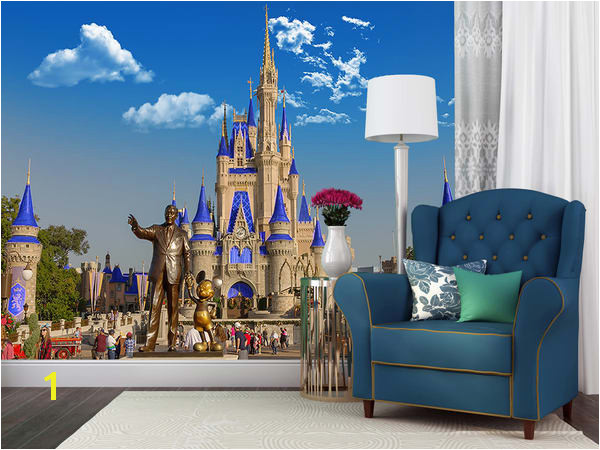 Partners and Cinderella s Castle Disney Wall Murals