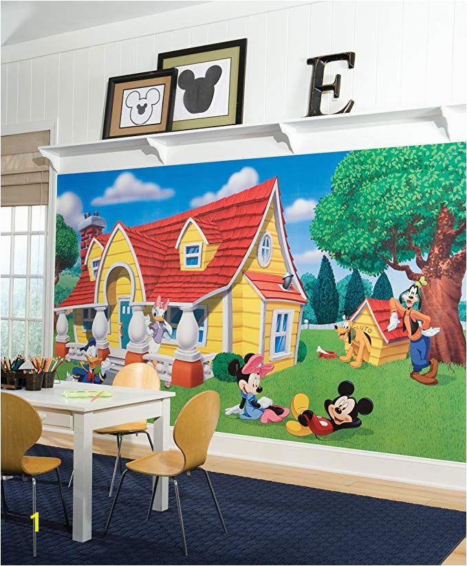 Buy your Mickey & Friends Chair Rail Prepasted Wall Mural here Create a vibrant scene in your child s room with prepasted wall murals