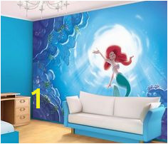 XL Ariel The Little Mermaid wall mural wallpaper Disney
