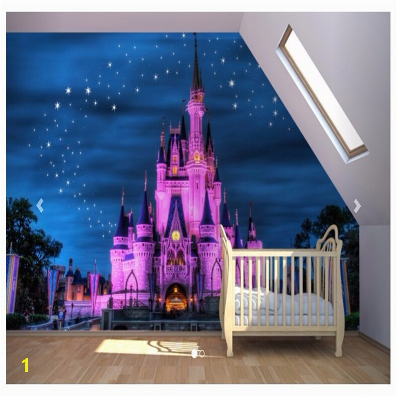 Beibehang Fairy Tale Castle Wallpaper Mural Wall Kids Room Bedroom Background Wallpaper Modern wallpaper for walls 3 d in Wallpapers from Home Improvement