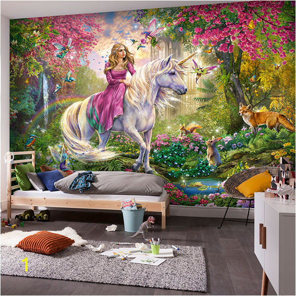 Wall Murals The princess of the unicorn