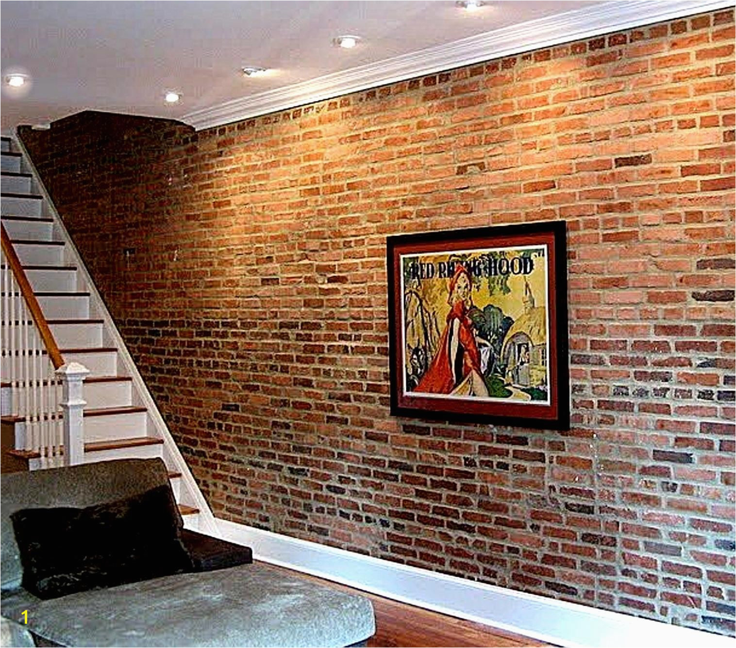Distressed Brick Wall Mural Faux Brick Wall Really if that S Truly Fake Brick then I Am