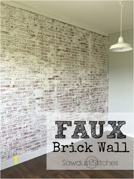 Sawdust2stitches How to create a realistic Faux Brick wall out of paneling