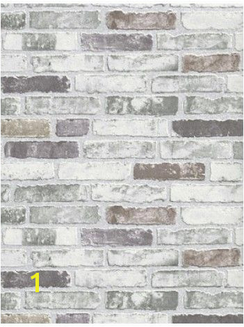 White Grey Brick Wallpaper Paint Pinterest