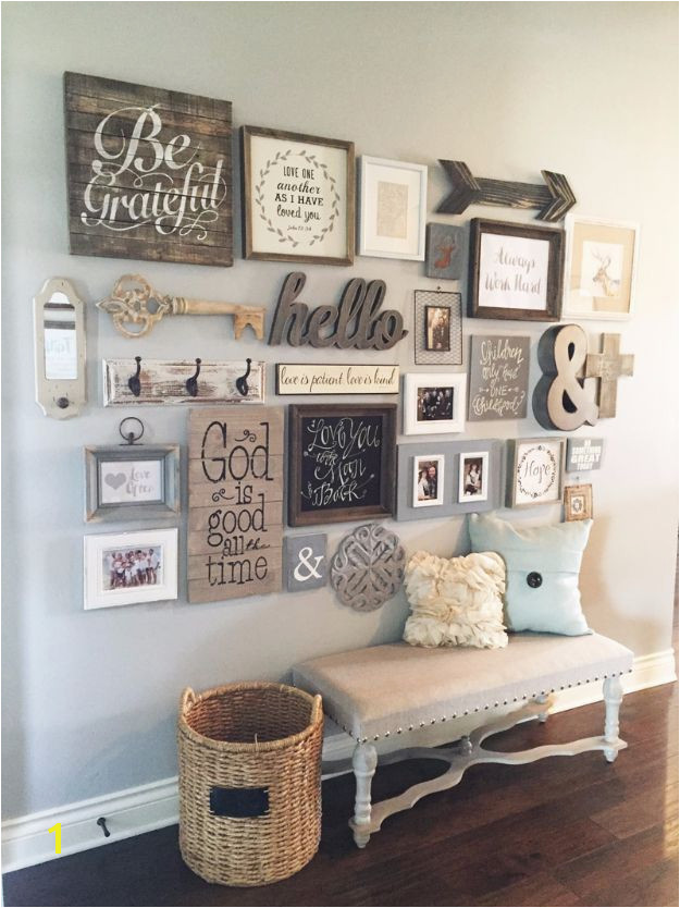 41 Incredible Farmhouse Decor Ideas Gallery wall ideas Pinterest