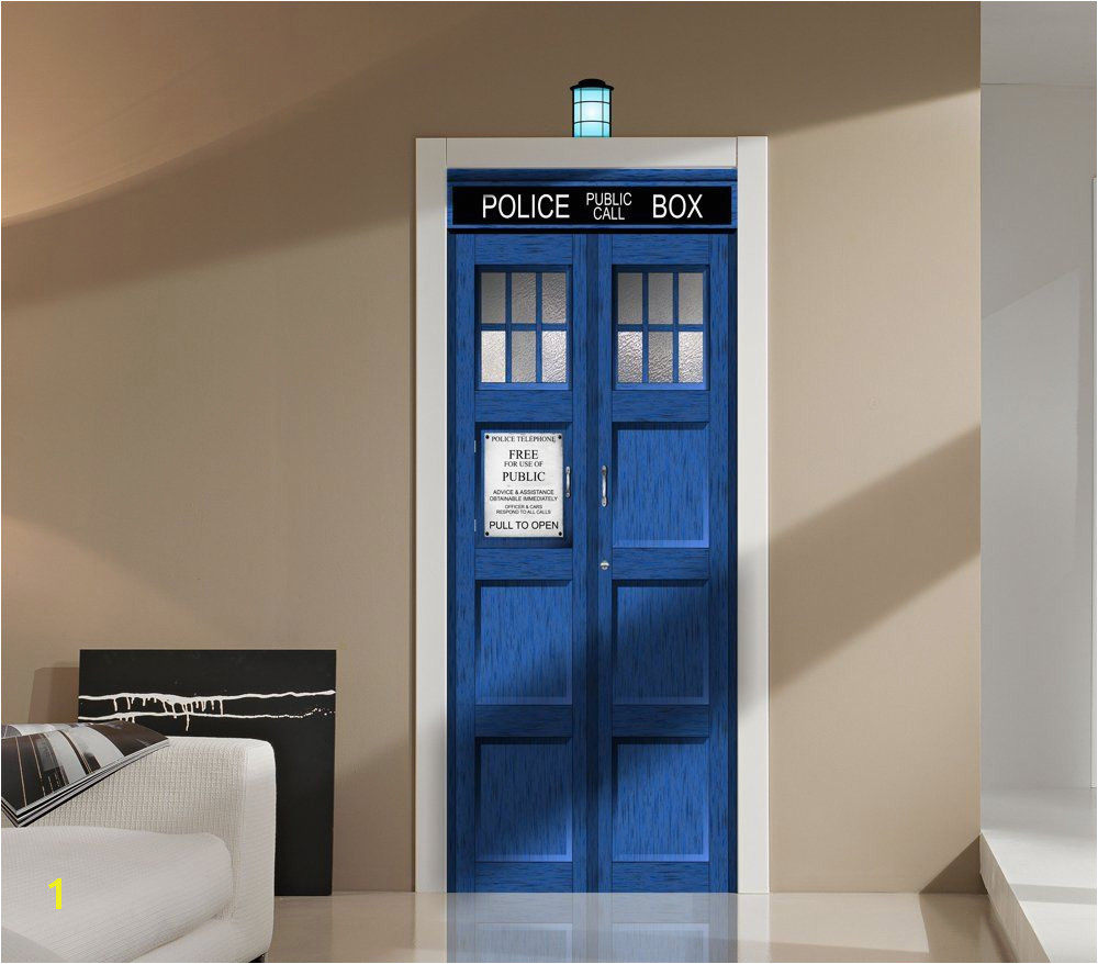 Amazon Doctor Who TARDIS Fathead style Door or Wall Decal Sticker Graphic USA Seller