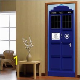 bathroom wall mural decals Coupons New Doctor Who Wall Decal Blue TARDIS Fathead Style