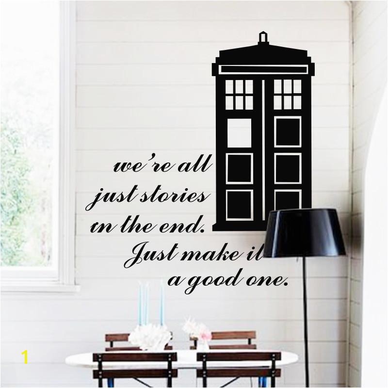 Art design home decoration cheap vinyl popular Doctor who wall sticker removable house decor famous cartoon