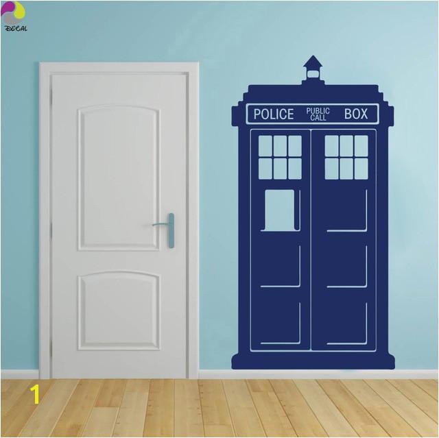 Tardis Doctor Who Style Wall Sticker Kids Room Baby Nursery TV Wall Decal Living Room Police box Call Vinyl Home Decor Art