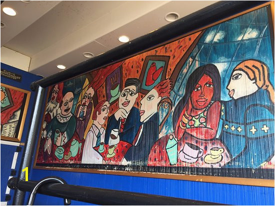 The Artful Dodger Mural by our table