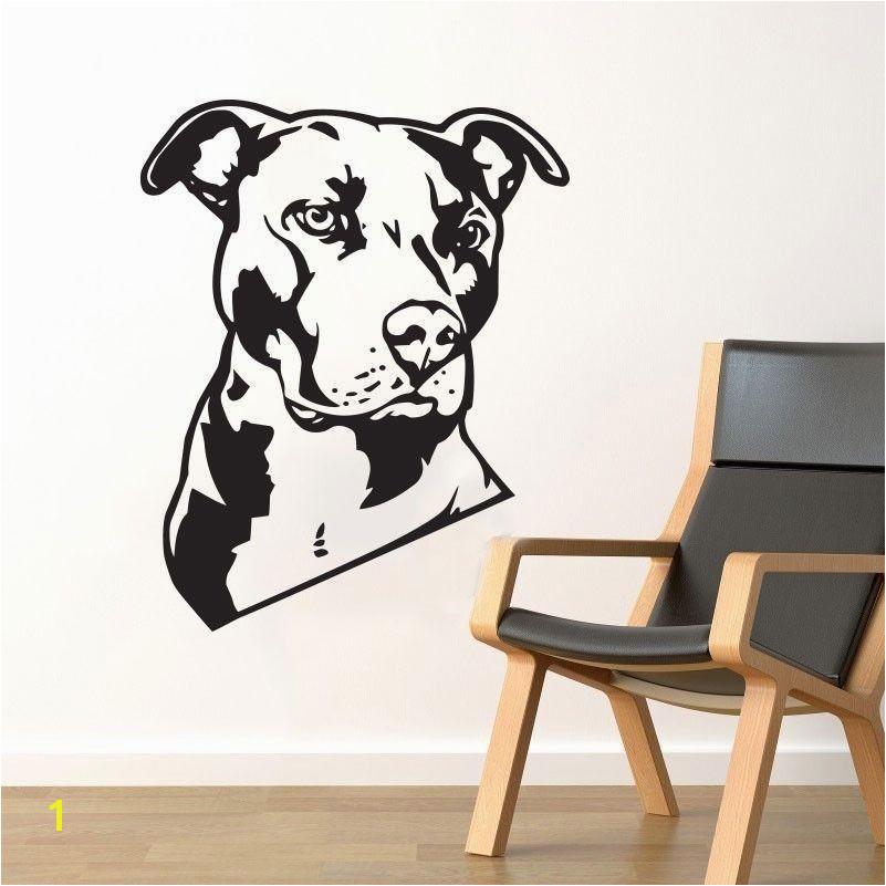 Bulldog Wall Decal Vinyl Sticker Cute Dog Wallpaper Wall ArtDecor Dalmatians Mural Pet