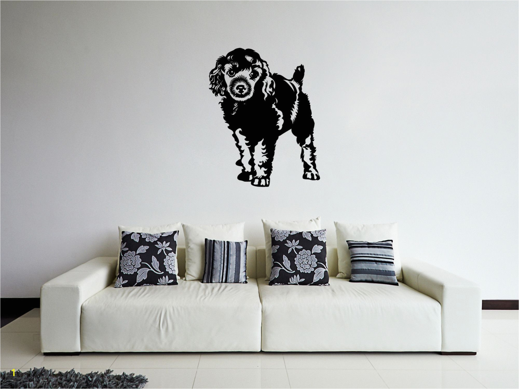 Dog Murals for Wall Ik295 Wall Decal Sticker Decor Cute Dog Animal Interior Bed Kids