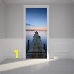 Door Wall Sticker Bridge Pier Self Adhesive Matt Fabric Mural