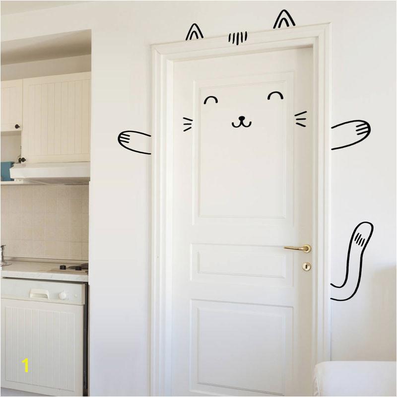 Sushi The Cat Door Decal Wall Decal For Doors Windows Closets Nursery Decor Cat