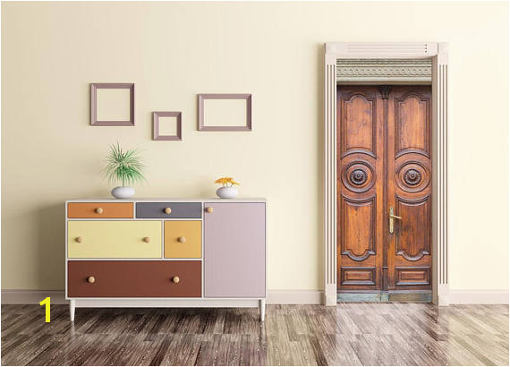 Wooden Door Decal Door Wrap Self adhesive Decor Peel And Stick