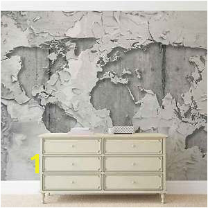 Image is loading World Map Concrete Texture WALL MURAL PHOTO WALLPAPER