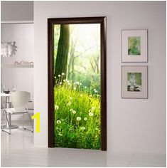 """Door sticker mural Self Adhesive Vinyl Poster Mural peel and stick removable sticker wall art home size 31"""" x 79 5"""" 80 x 203cm"""