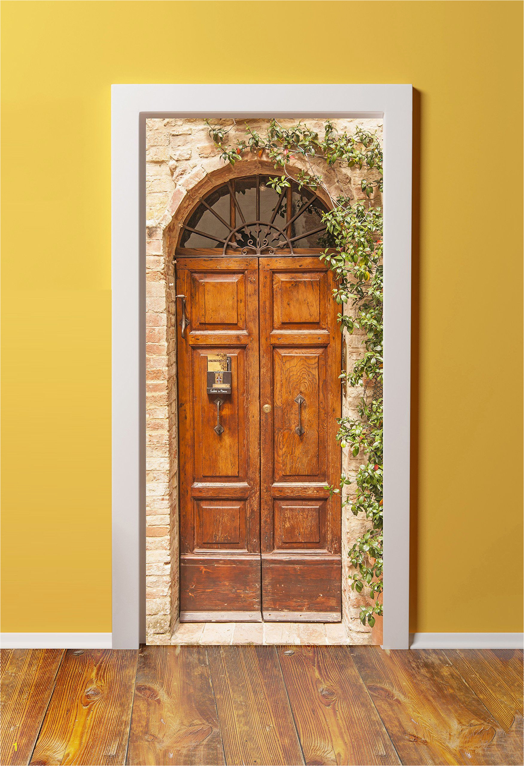Amazon 36x80 Canvas 3D Door Sticker Murals PEEL & STICK Made from tear proof washable cotton canvas Antique Double Doors in London England