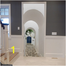 Removable Door Murals UK Free shipping DIY 3D Greek Paros Arch Door Sticker Mural Home