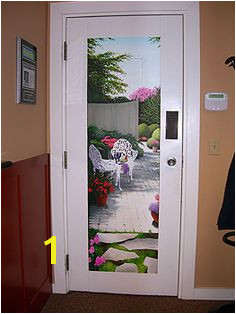 Trompe l oeil Door Mural by The Art of Life