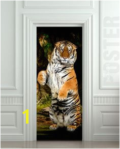 Door STICKER tiger wildlife zoological animal zoo mural decole film self adhesive poster sold by Pulaton Shop more products from Pulaton on Storenvy