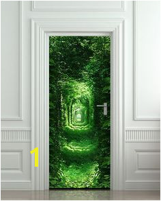 Door Wall or Fridge STICKER Rabbit Hole tunnel mural decole mural decal poster Realism Door