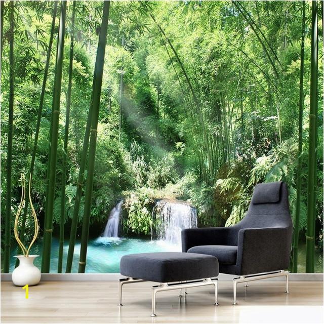 Door Size Wallpaper Murals Custom 3d Wall Murals Wallpaper Bamboo forest Natural Landscape Art