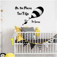 WALL DECAL QUOTES Oh The Places You ll Go by Dr Seuss Dr Seuss Quotes Nursery Wall Decals Stickers Murals Kids Baby Children Wall Art Q058