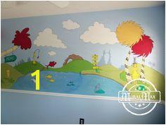 Dr Seuss Nursery Wall Murals Playroom Mural Nursery Wall Murals Nursery Paintings Dr
