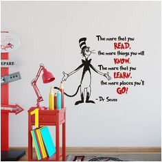 Dr Seuss Wall Decal Quote The More That You Read Dr Seuss Wall Saying Decals Dr Seuss Wall Art Th
