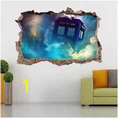 Tardis Dr Who Smashed Wall Decal Removable Graphic Wall Sticker Art Mural H292 Unbranded