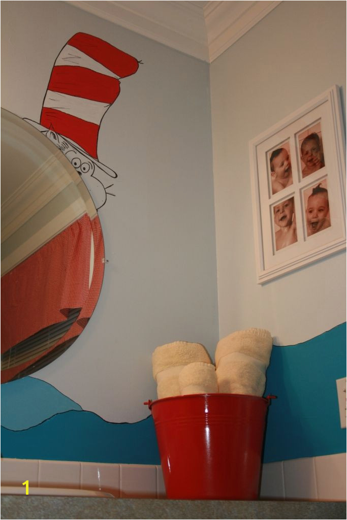 Dr Suess bathroom wall mural