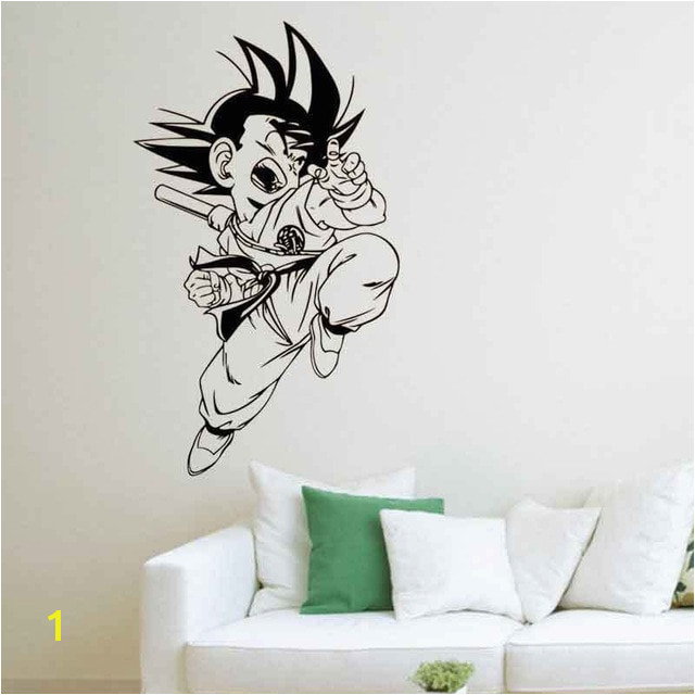 Cartoon dragon ball Sun Wukong vinyl wall decal home decor living room diy art mural wallpaper