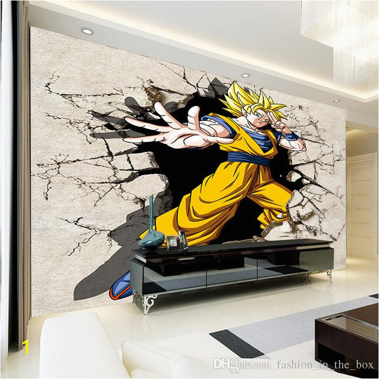 Dragon Ball Wallpaper 3D Anime Wall Mural Custom Cartoon Wallpaper Boys Kids Bedroom Livingroom