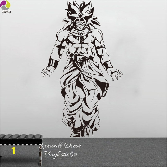 Janpanese Cartoon Dragon Ball Z DBZ Wall Sticker Kids Room Super SaiyanGohan Goku Anime Wall Decal Vinyl Home decor