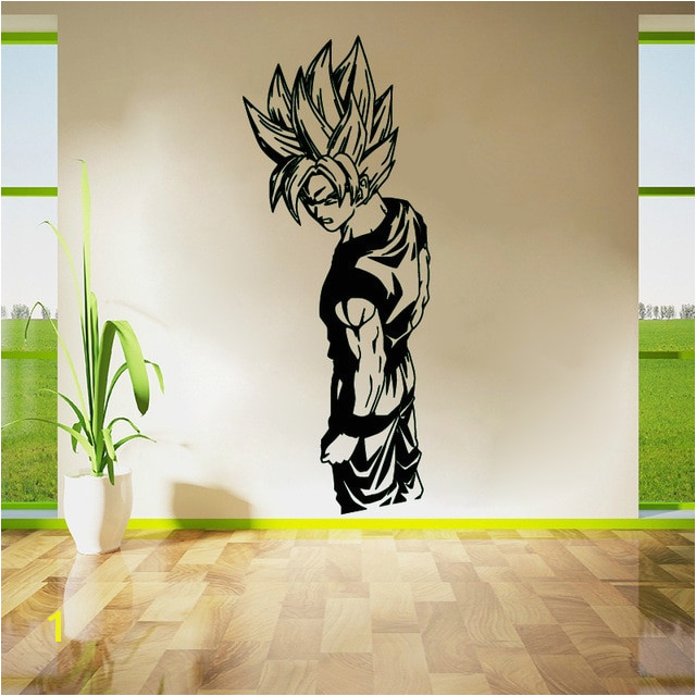 Wall Stickers Living Room Decor Wall Art Bedroom Decals Removable Vinyl Wallpaper Super Saiyan Goku Dragon Ball Z DBZ Anime