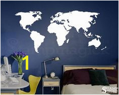 World Map Wall Decal for Home or fice chalkboard white chalk board dry erase…