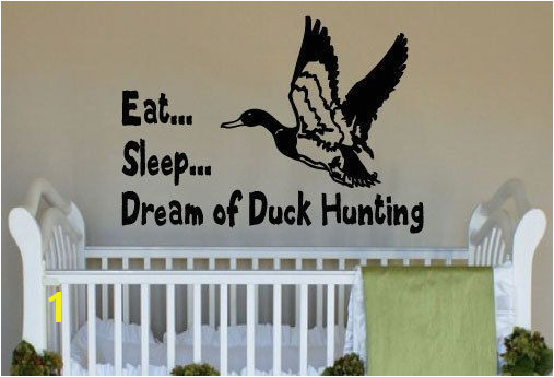 Dream of Duck Hunting Little Boy s Room Vinyl Wall Art Decal