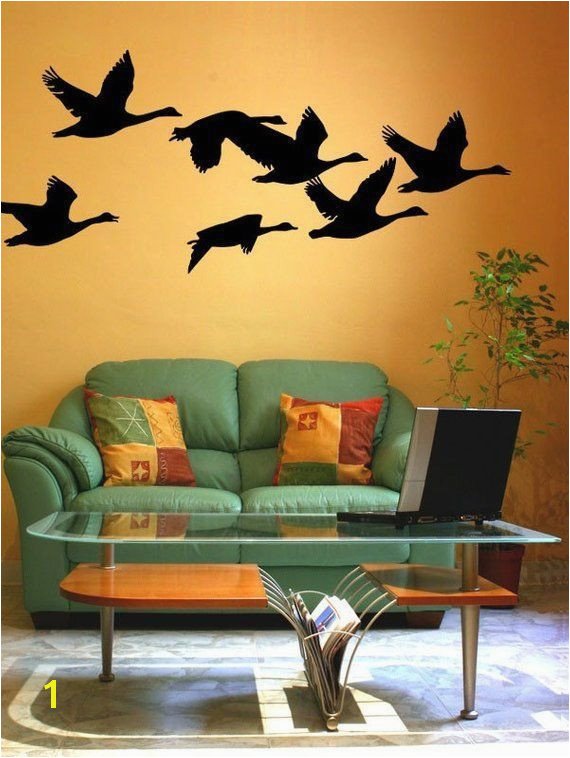 Geese Decal Flying Geese Bird Wall Decal Woodland Nursery Decor Nature Wall Decal Hunting Wall goosehuntingnursery goosehuntingdecals