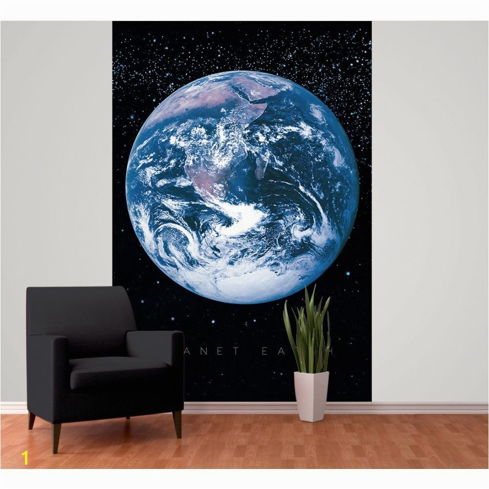 1 Wall Planet Earth Space Globe Wallpaper Mural 1 58m x 2 32m