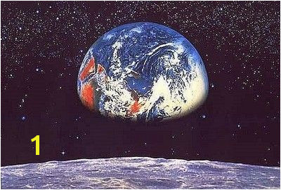 Komar 8 019 8 PC Earth Moon Space mural Wall Mural Wallpaper