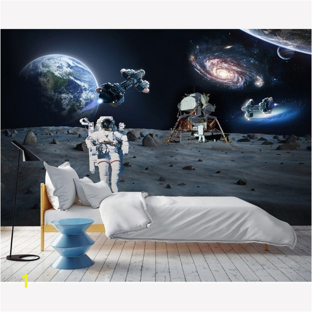 Moderno Wall Paper Stickers Space Wallpaper Mural Kids Room Papel De Parede 3D Behang Self Adhesive Vinyl Silk Wallpaper
