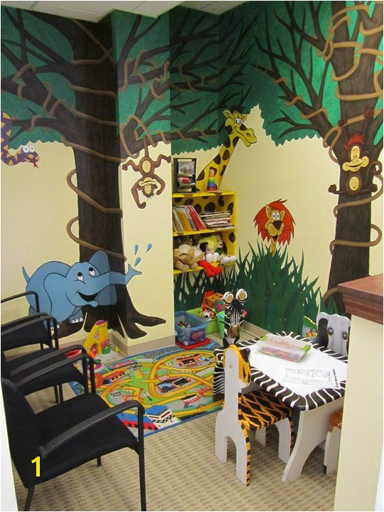 Children love the wall murals reading and playing with educational toys at Premier Wellness Chiropractic while they wait for their adjustment or wait for