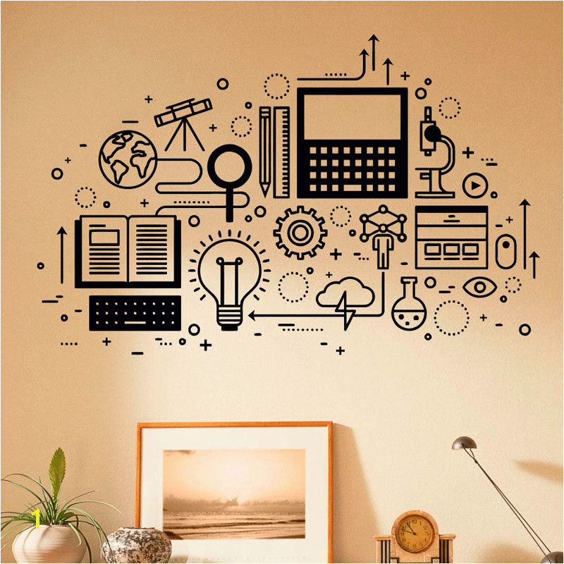 puter Technology Wall Decal Vinyl Sticker Science Education Home School Classroom Art Decor Self adhesive Murals 3R012