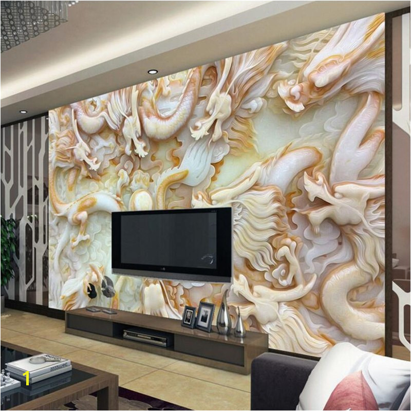 Beibehang 3d wallpapers HD jade carving Kowloon opera living room bedroom TV background wall murals wallpaper for walls 3 d