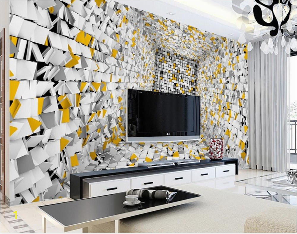 Custom 3d wall murals background Abstract box cut paper Background Wall wallpaper for living room bedroom nonwoven wallpaper in Wallpapers from Home