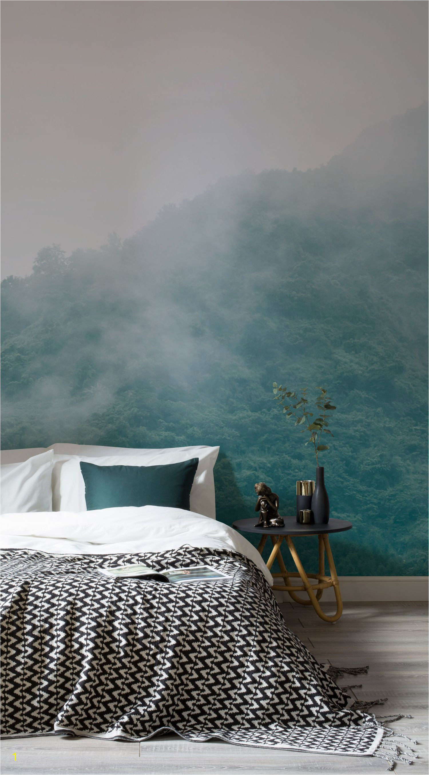 Take a look at these calming wall murals that will help create a stress free zone in your home
