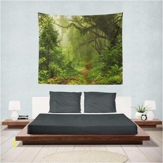 Enchanted Forest Tapestry Wall Hanging Forest Tapestry Bedroom Trees Tapestry Room Forest Tapestry Forest Tapestries Tree Tapestry