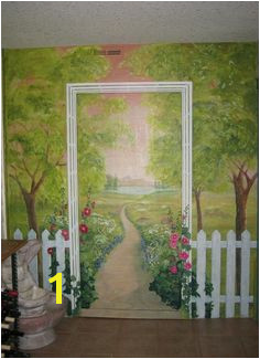 garden mural idea I love so many of the aspects of this The