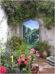 This by artist Jonathan Pritchard garden mural